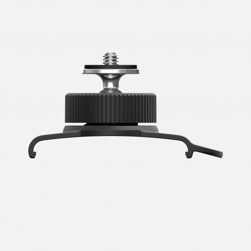 Swivel Clip is a secure ball joint with a standard screw thread for attaching any camera on top of Muwi.
