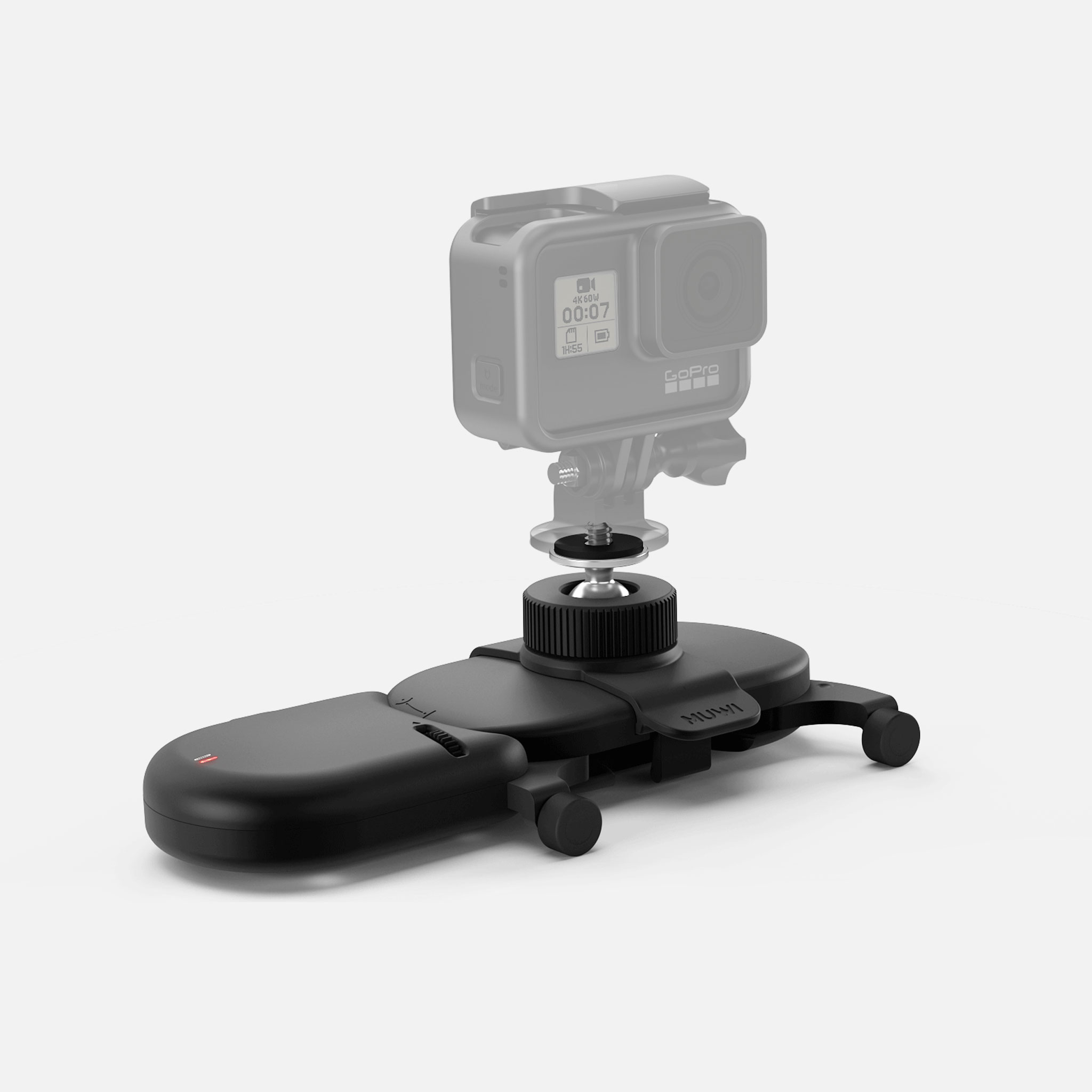 Use pocket sized motorized dolly Muwi to create straight or curved camera motions