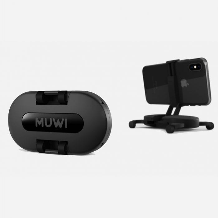 MUWI, pocket sized dolly, is compatible with smartphones, action cameras and DSLRs