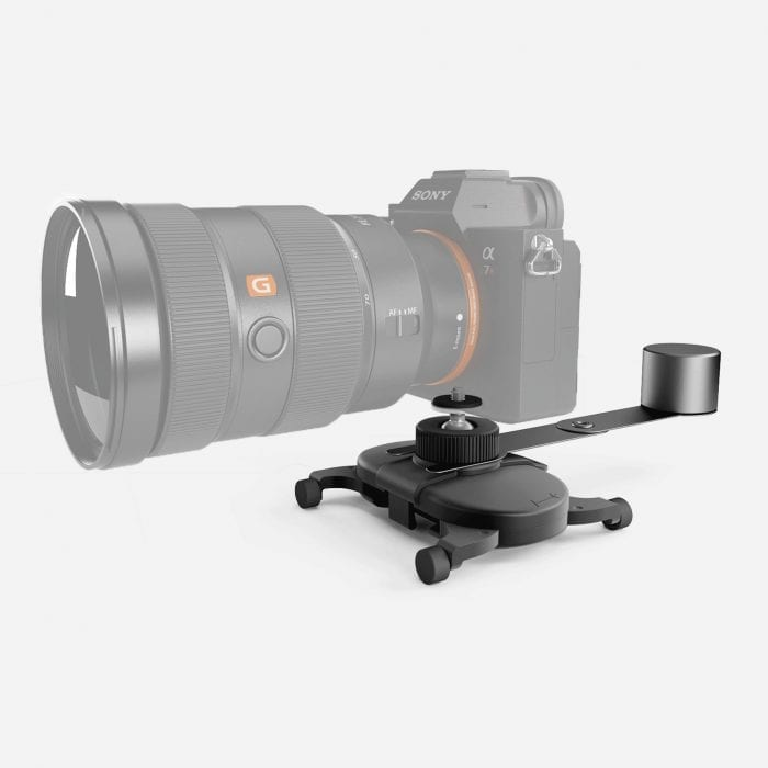 Enhance your Muwi setup with Counter Balance to stabilize larger camera lenses.