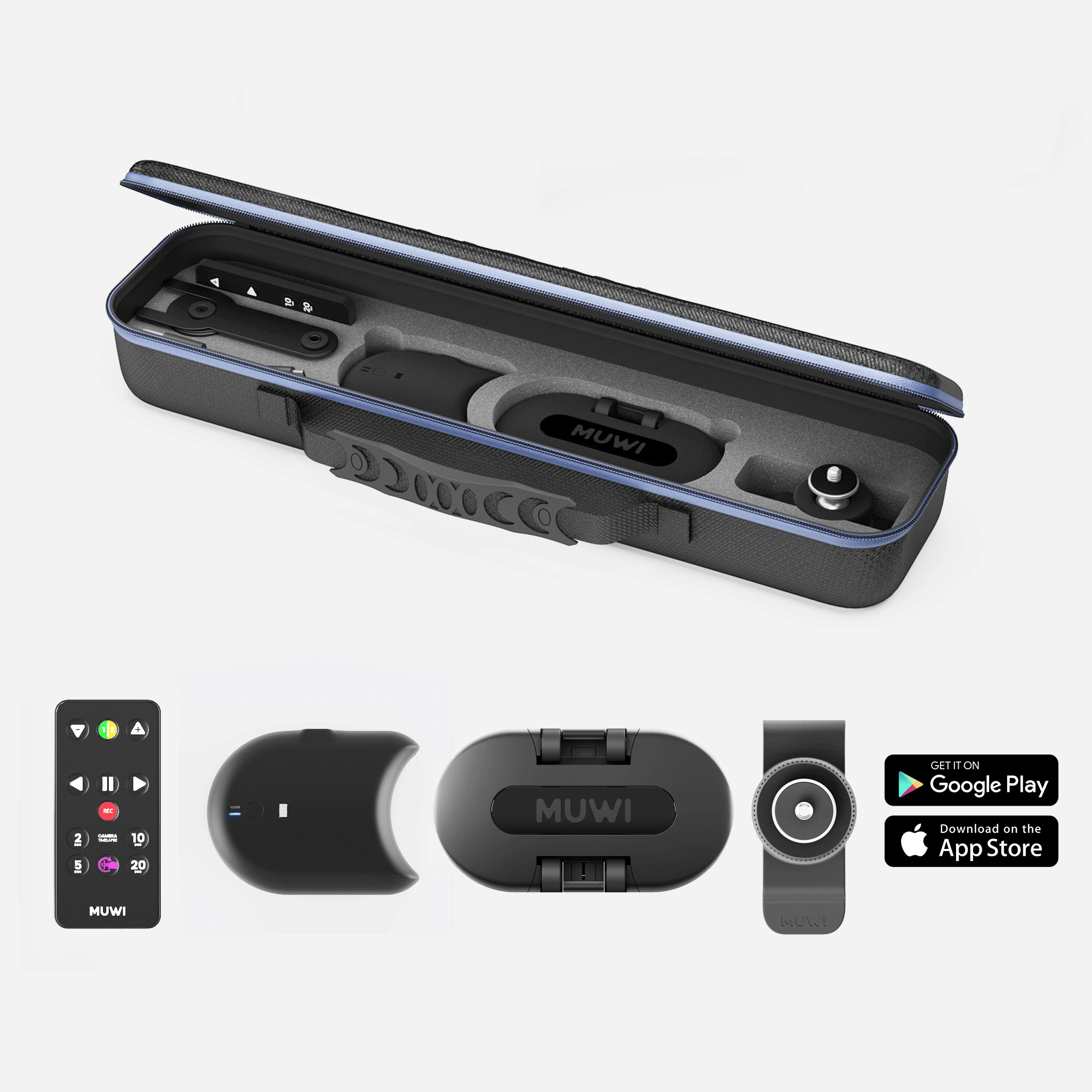 Duo Pack Smart includes Muwi, Flow X, motorized module, and Swivel Clip