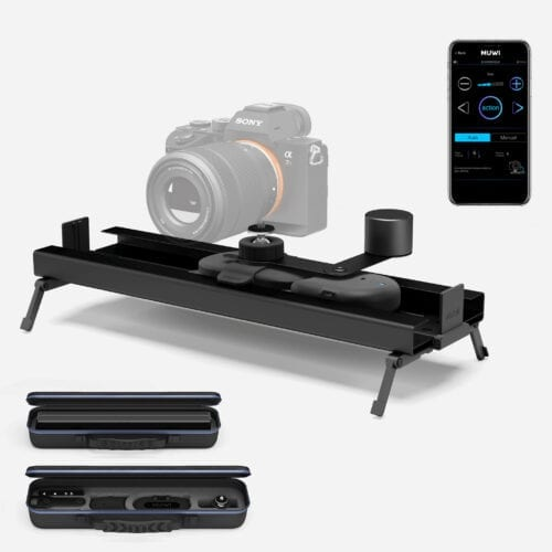 Muwi Full Pack Small including motorized smart dolly and camera slider