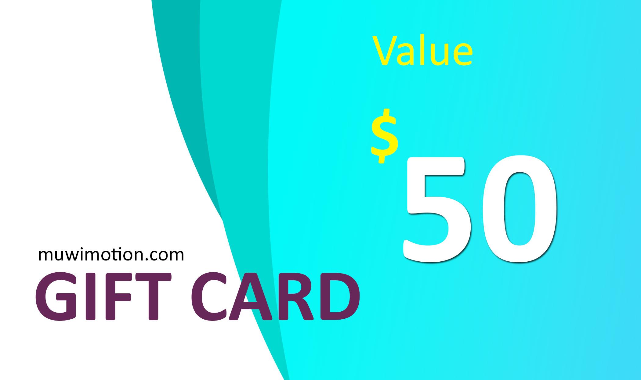 MUWI Digital Gift Card
