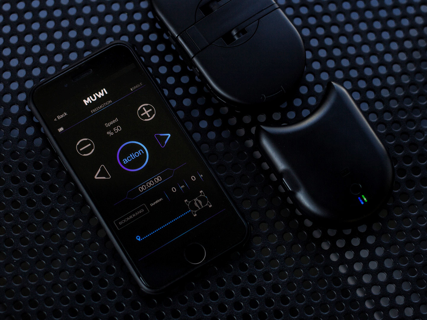 Muwi's motorized add-on Flow X can be controlled with the MUWI App.