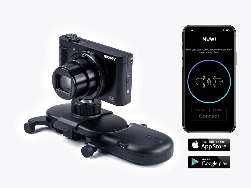Muwi Flow X provides straight or curved automated camera movements with smart motion control.