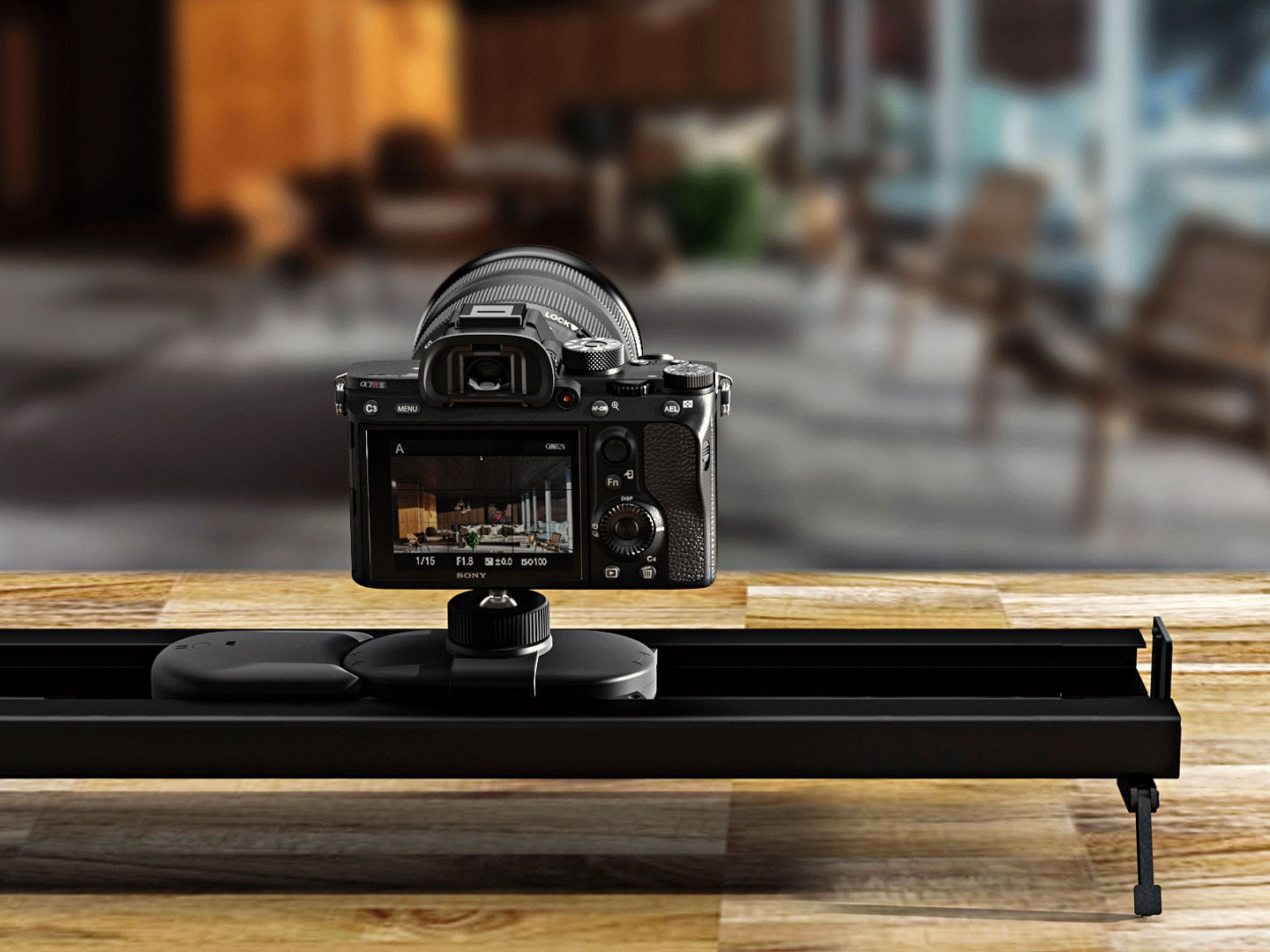 Track the slider is designed for both outdoor and indoor for you to shoot cinematic videos.